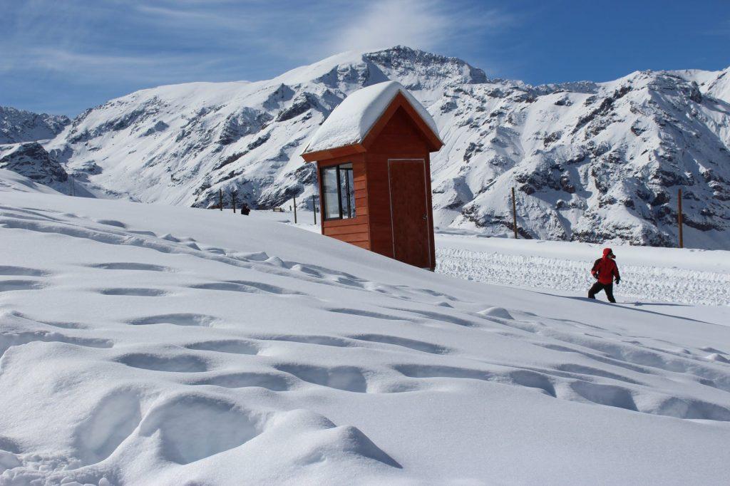 jazda pługiem na nartach